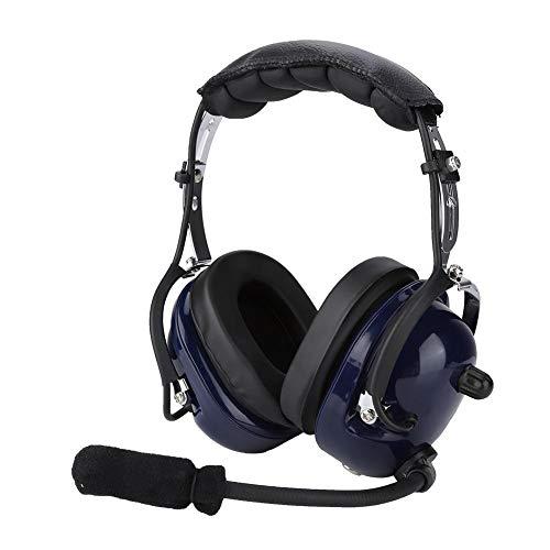 Tosuny Auriculares de aviación universales con micrófono de cancelación de Ruido dinámico, Auriculares piloto de reducción de Ruido de 24dB con Conector de 3,5 mm para radios portátiles Motorola/HYT