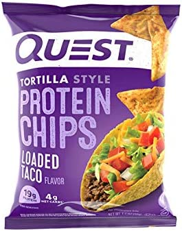 Quest Nutrition Tortilla Style Protein Chips Loaded Taco Low Carb Gluten Free Baked 1 1 Ounce product image