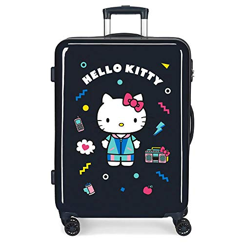 Koffer MedianaCastle of Hello Kitty Hartschale, 68 cm, Navy