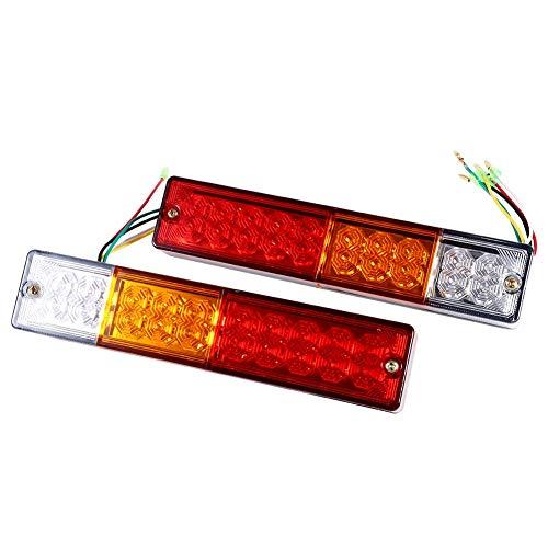 Fácil instalación 20 luces traseras LED, luz trasera, camiones para remolques, caravanas para barcos(12V)