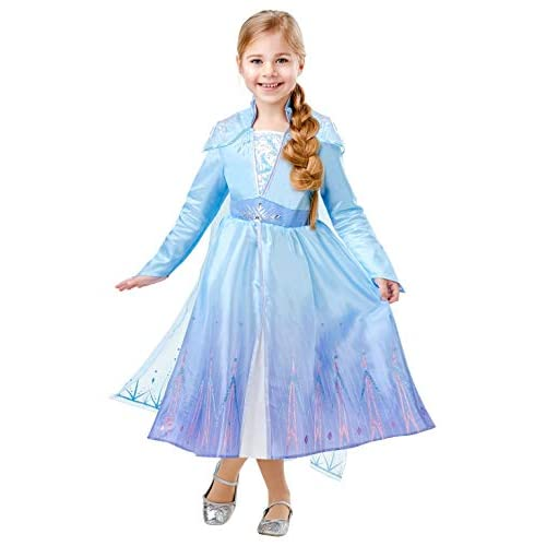 Frozen 2 Deluxe - Costume di Elsa XL Multicolore