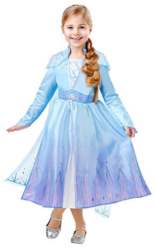 Frozen 2 Deluxe Disfraz Elsa Travel, XL, Multicolor, (Rubie'S 300506-XL)
