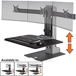 Stand Steady Winston-E Electric Triple Monitor Mount Sit-Stand Desk (Innovative WNSTE-3-270) | Three Monitor Stand up Workstation Converter w/VESA Mount| Height Adjustable! (Electric/3 Monitor)