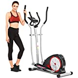 ANCHEER Elliptical Machine, Elliptical Trainer for Home Use with Pulse Rate Grips and LCD Monitor, Magnetic Smooth Quiet Driven Max 350lbs