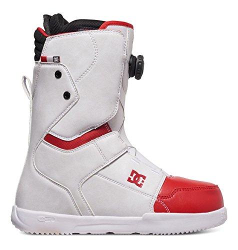 DC Herren Scout Snowboardboots, White/Red, 10.5D