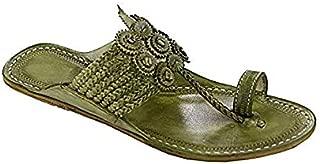 KOLHAPURI CHAPPAL Original Wonderful Seaweed Platform Heel Ladies Slipper Sandal
