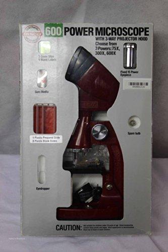 600 Power Microscope with 3 Way Projector Hood