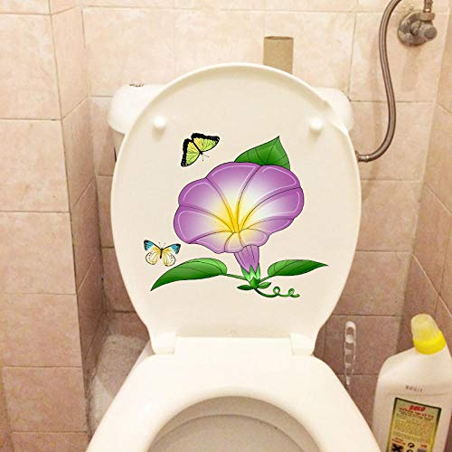 Decors Girls21.8X19.1Cm Cartoon Trompet Wc Toilet Decor Decal Creatieve Thuis Kids Kamers Muursticker