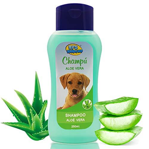BPS Champú Aloe Vera para Perro 250ml Shampoo Animales Domésticos Seguro y Natural Diseño para Todo Tipo de Razas BPS-4262