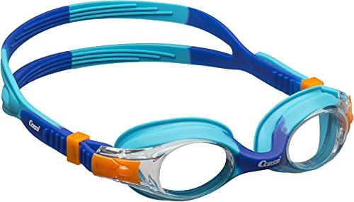 Cressi Dolphin 2.0 Gafas, Unisex niños, Azul Claro/Azul, Talla única