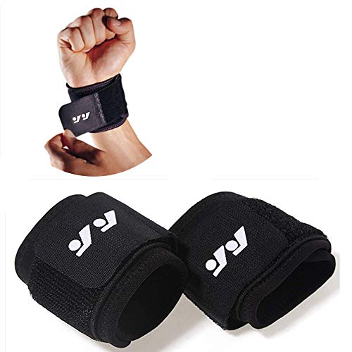 Wrist Compression Strap and Support, This product fits both left and right wrists,One Size Adjustable (style 2/2pack)