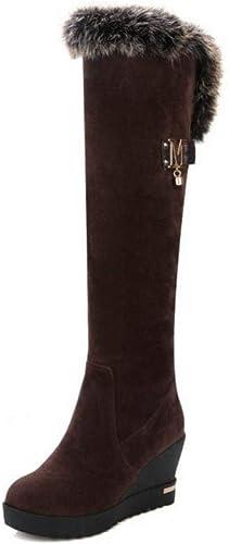 Fuxitoggo Bottes pour Les Les Les Les dames - Bottes d'hiver Chaudes antidérapantes Chaussures en Coton Bottes Montantes   34-39 (Couleuré   Marron, Taille   39) 7eb