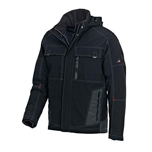 BP 1875-888-32-3XL Wetterfeste Arbeitsjacke für Männer, Vollständig Gepolstert mit Thermisch Gestepptem Futter, 100% Polyamid, Schwarz, 3XL Größe