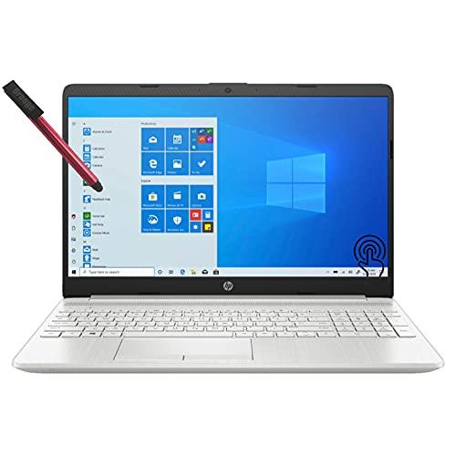 "2021 Newest HP 15 15.6"" Touchscreen Laptop Computer, Intel Core i3 1115G4 up to 3.2GHz (Beat i5-8365U), 8GB DDR4 RAM, 256GB PCIe SSD, Type-C, HDMI, Remote Work, Windows 10 S, BROAGE 64GB Flash Stylus"
