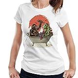 Cloud City 7 Godzilla King Kong Bath Time - Camiseta para mujer