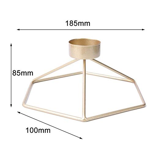 3D Wall-Mounted Metal Candle Holder Wall-Mounted Home Decoration Mostly for Desktop (Color : 1850x185x85mm)