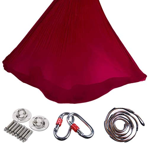 Buy Discount SFJRY Aerial Yoga Yoga Hammock Set, Aerial Silks Equipment Aerial Yoga Cloth Hammock Se...