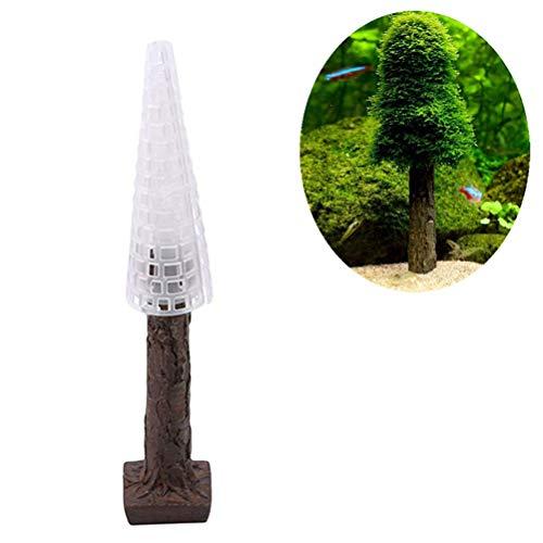 QoFina Aquarium Moosbaum,Premium-Qualität Simulation Weihnachten Moos Weihnachtsbaum Pflanze wachsen Aquarium Landschaft Dekor