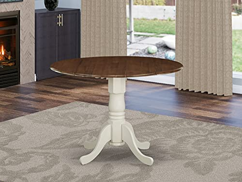 East West Furniture DMT-WLW-TP Dublin Dining Made of Rubber Wood offering Walnut...