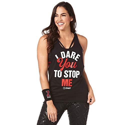 Zumba Negro Gimnasio Camisetas Tirantes Mujer Suelta Fitness Entrenamiento Deportivo Top, Zumba Black, Small