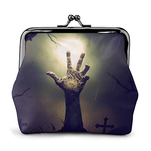 The Dead Don't Die Cash Geldbörse, Leder, Reißverschluss, Make-up-Tasche, mit Handschlaufe