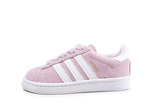 adidas Bambina Campus EL I Sneaker Rosa, 19