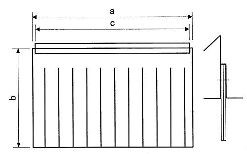 Meiko gordijn voor vaatwasser voor drogen breedte 660mm hoogte 420mm B2 640mm B1 640mm spoeltechniek