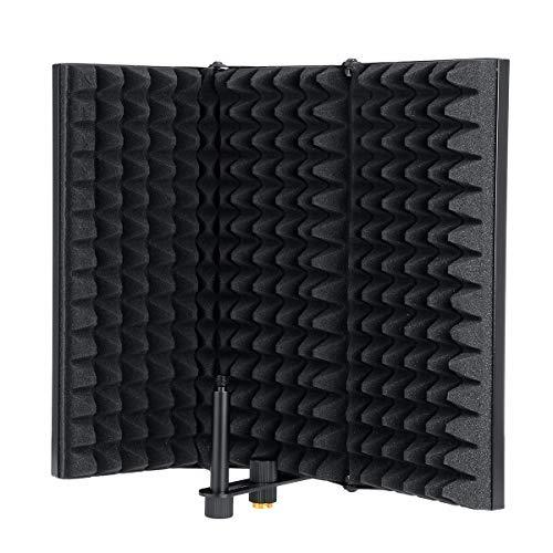 Beho3プレート調整可能な折りたたみ式マイクアイソレーションシールドスタジオレコーディング