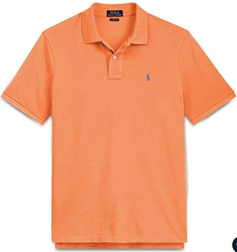 Ralph Lauren Men's Classic Fit Mesh Pony Logo Polo Shirt (M, ClassicPeach)