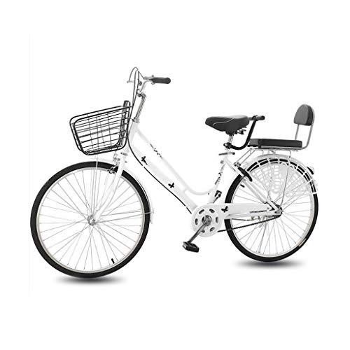 Bike Bicicleta Bicicletas 24/26' Ligero For Adultos Commuters Hombres De Las Mujeres Unisex De Estudiantes De La Ciudad, , Amortiguador, Parrilla De Transportar Y Almacenamiento De Gran Tamaño Cesta