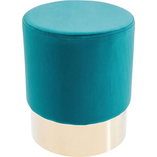 Kare Design Tabouret Cherry 35cm Turquoise et Laiton