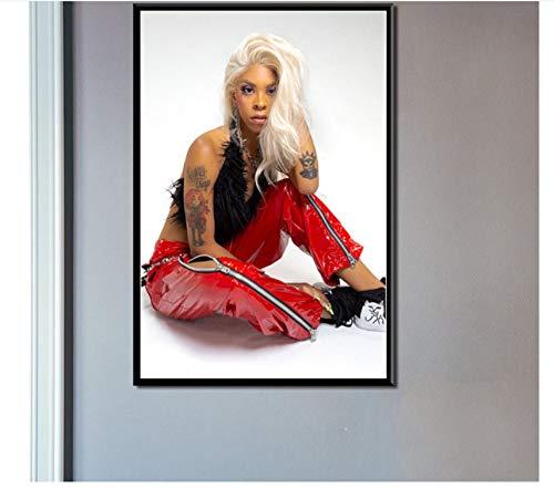 asfrata265 Plakate Und Leinwanddrucke Gemälde Rico Hässliche Hip Hop Musik Wandbilder Rahmenloses Gemälde Vintage Wohnkultur Affiche Pon-215 40X60Cm