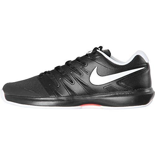 Nike Air Zoom Prestige Cly, Chaussures de Tennis Homme, Black White Bright Crimson 001, 47 1/3 EU