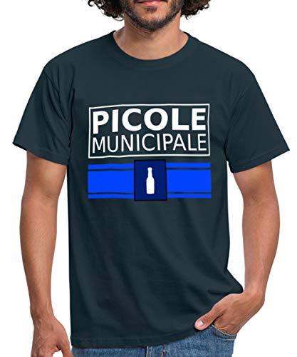 Spreadshirt Picole Municipale Jeu De Mots T-Shirt Homme, XL, Marine