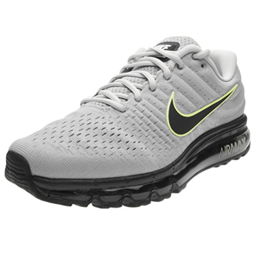 Nike Mens Air Max 2017 Running Shoes (9, Wolf Grey/Black/Pure Platinum)