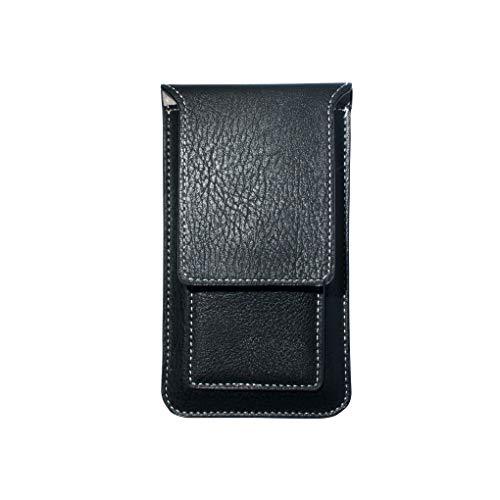 AXELENS Custodia Universale a Sacchetto Porta Cellulare per iPhone Samsung Huawei Xiaomi Nokia in Simil Pelle Ecopelle per Smartphone Fino a 6.1 Pollici - Nero Taglia XL
