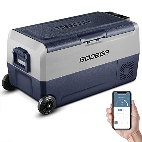 BODEGA 12 Volt Car Refrigerator, Portable Freezer, Car Fridge Dual Zone APP Control, 38 Quart(36L)-4℉-68℉ RV Electric Compressor Cooler 12/24V DC and 100-240V AC for Outdoor, Travel, Camping
