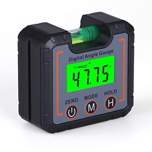 URPRO Digitaler LCD Winkelmesser Neigungsmesser Inklinometer Wasserdicht Bevel Box Winkelmessgerät Digitale Wasserwaage