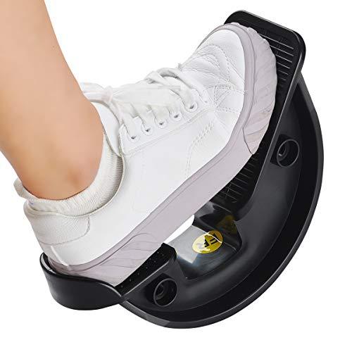 COVVY Foot Rocker Wadenstrecker Fußgelenk Plantar Board für Achillessehnenentzündung, Muskeldehnung, Fuß- und Schienbeinschienen Schmerzlinderung (Black)