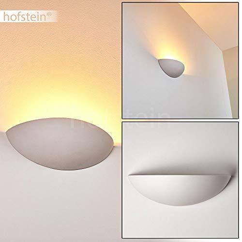 Wandlamp Ovaal van keramiek in wit, wandlamp met lichteffect, 1 x E27 fitting, max. 40 Watt, interieur wandlamp kan worden beschilderd met standaard kleuren
