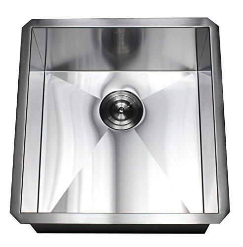 ARIEL F1920 19 Inch Zero Radius Design Undermount Single Bowl Stainless Steel Kitchen Sink