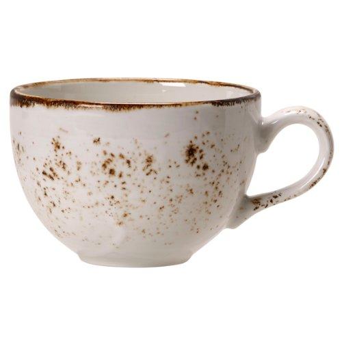 Steelite Craft Niedrige Tasse als Kaffeetasse, Teetasse, Heißgetränk-Service, rustikale Tassen, 230 ml, Weiß