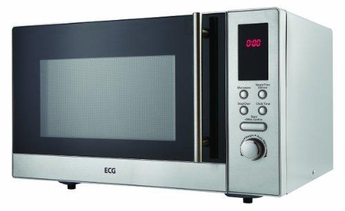 ECG MTD 231 S Mikrowelle / 800 W / 23 L Garraum / digitale Steuerung, Edelstahl / silber