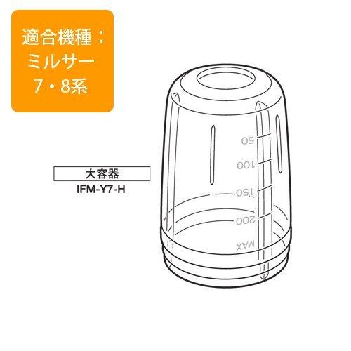 イワタニ イワタニ ミルサー用標準容器(ガラス)Iwatani IFM-Y7-H