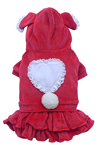 Doggy Dolly DRF006 Bunny Robe pour Chien Rouge Taille XL