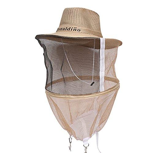 Farm & Ranch Chapeau de cowboy pour apiculture, moustiquaire, abeille, voile de tête