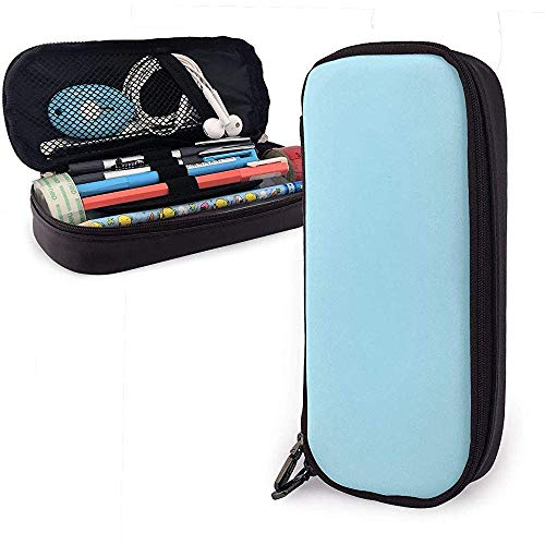 Blau Eistüte Nette Stift Federmäppchen Leder Große Kapazität Doppelreißverschlüsse Bleistiftbeutel Tasche Stifthalter Box 20 cm * 9 cm * 4 cm