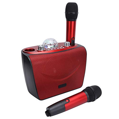 Altavoz Bluetooth Karaoke máquina ajustable para teléfono para PC (rojo S201-doble trigo)