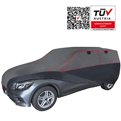 Walser Auto Hagelschutzplane Premium Hybrid SUV wasserdichte atmungsaktive Hagelschutzgarage für optimalen Hagelschutz, Größe: L 31080