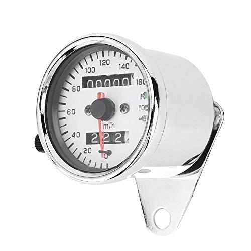 KIMISS Moto Contachilometri Moto LCD Tachimetro digitale Contagiri Contachilometri Indicatore di direzione Indicatore di direzione Fari Vintage Universale Adatto per la maggior parte delle motocicle